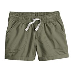 Girls 4-10 Jumping Beans® Solid Cuffed Twill Shorts