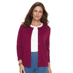 Women's Croft & Barrow® Essential Button-Front Cardigan