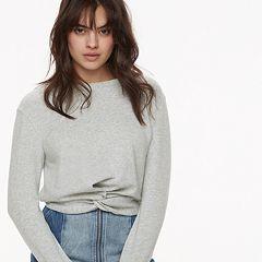 k/lab Twist Cropped Sweatshirt