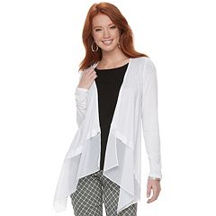 Women's ELLE™ Mixed-Media Flyaway Cardigan