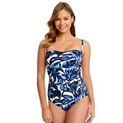 Women's Great Lengths D-Cup Ruched One-Piece Swimsuit