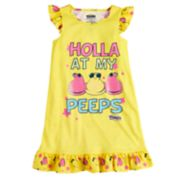 "Girls 4-12 ""Holla At My Peeps"" Knee-Length Dorm Nightgown"