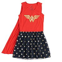 Girls 4-12 DC Comics Wonder Woman Knee-Length Dorm Nightgown with Cape
