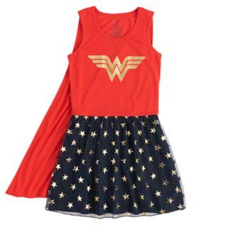 Girls 4-12 DC Comics Wonder Woman Knee-Length Dorm Nightgown with Cape