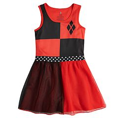 Girls 4-12 DC Comics Harley Quinn Derby Knee-Length Dorm Nightgown