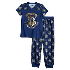 Girls 4-12 Harry Potter Hogwarts Top & Bottoms Pajama Set