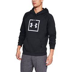 fed09dc6 Men's Under Armour Rival Fleece Logo Hoodie. Steel Academy Black