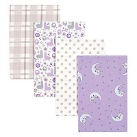 Trend Lab Llamas & Unicorns 4 pkFlannel Swaddle Blankets