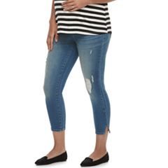 Maternity a:glow Full Belly Panel Capri Jeans