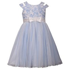 Girls 7-16 Bonnie Jean Metallic Floral Cutout Ballerina Dress