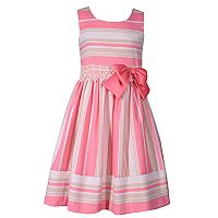 Girls 7-16 Bonnie Jean Striped Linen Lace Dress