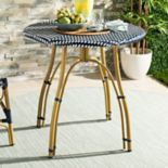 Safavieh Round Woven Top Indoor / Outdoor Bistro Table