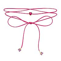 Girls 5-12 JoJo Siwa Faux-Suede Heart & Bow Charm Wrap Choker Necklace