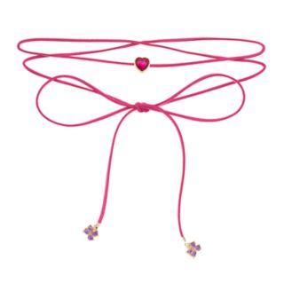 Girls 5-12 JoJo Siwa Faux-Suede Heart & Bow Charm Wrap Choker Necklace
