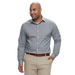 Big & Tall Van Heusen Traveler Classic-Fit Stretch No-Iron Button-Down Shirt