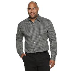 Big & Tall Van Heusen Traveler Classic-Fit Stretch No-Iron Button-Down Shirt