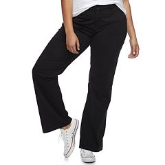 Juniors' Plus Size Unionbay Uniform Heather Twill Bootcut Pants