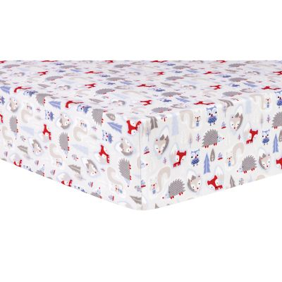 Trend Lab Winter Forest Deluxe Flannel Fitted Crib Sheet