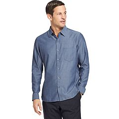 Big & Tall Van Heusen Never Tuck Slim-Fit Button-Down Shirt