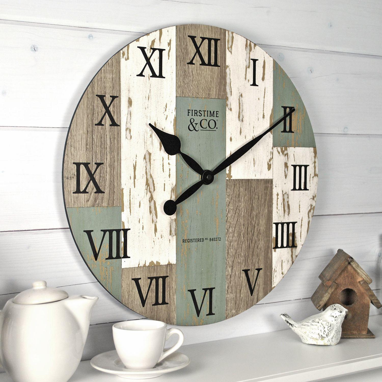 FirsTime Coastal Cottage Farmhouse Wall Clock