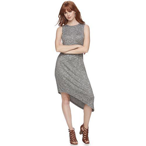 Women's Juicy Couture Asymmetrical Hem Sheath Dress