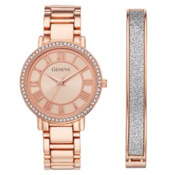 Geneva Women's Crystal Watch & Bracelet Set - KHS8043RG