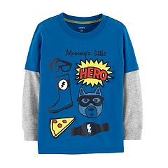 Toddler Boy Carter's 'Mommy's Little Hero' Mock-Layered Graphic Tee