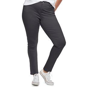 Juniors' Plus Size Unionbay Uniform Karma Skinny Pants