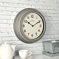FirsTime Classic Industrial Gray Wall Clock