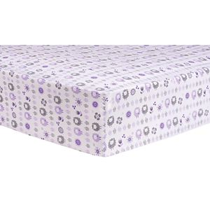 Trend Lab Lambs & Flowers Fitted Crib Sheet