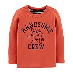 Toddler Boy Carter's 'Handsome Crew' Double Knit Tee