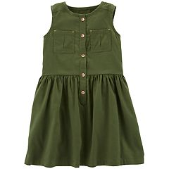 Toddler Girl Carter's Shirred Henley Dress