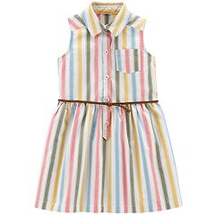 Toddler Girl Carter's Striped Henley Dress