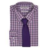 Men's Nick Graham Stretch Dress Shirt & Tie Set