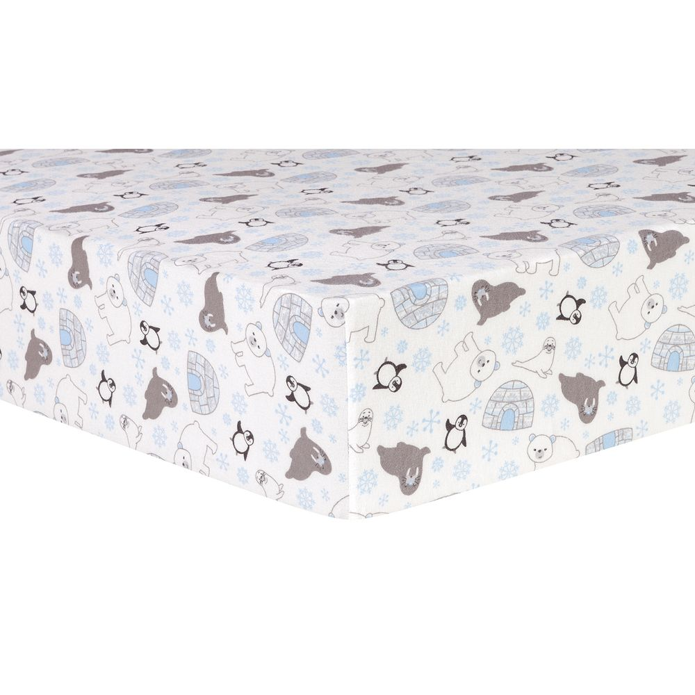 Trend Lab Igloo Friends Deluxe Flannel Fitted Crib Sheet