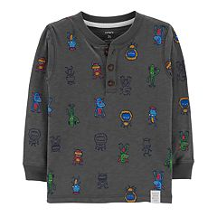 Toddler Boy Carter's Monster Graphic Henley Top
