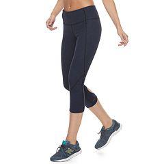 Women's Tek Gear® Keyhole Hem Capri Leggings