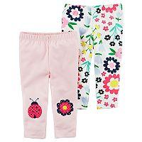 Baby Girl Carter's 2-Pack Print Pants