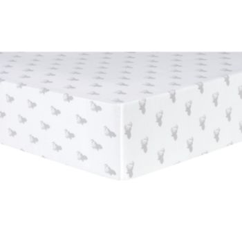 Trend Lab Stag Head Deluxe Flannel Fitted Crib Sheet