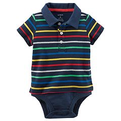 Baby Boy Carter's Striped Polo Bodysuit