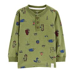 Toddler Boy Carter's Camp Graphic Henley Top