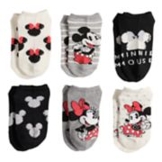Disney's Minnie Mouse & Mickey Mouse Girls 4-6x 6-pack No-Show Socks