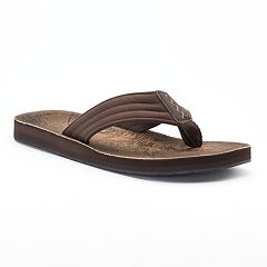 Men's Vintage Stone Denim ... Thong Flip-Flop Sandals bXuFnHjkSC