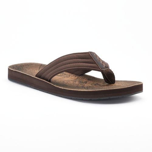 Men's Vintage Stone Graphic ... Thong Flip-Flop Sandals