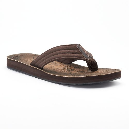 amazon online Men's Vintage Stone Graphic ... Thong Flip-Flop Sandals pay with visa cheap price F0mynsR