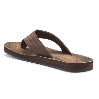 Men's Vintage Stone Graphic Thong Flip-Flop Sandals