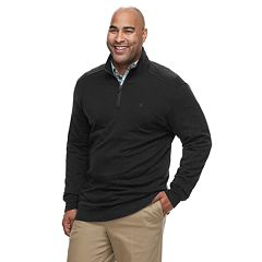 Big & Tall IZOD Advantage SportFlex Classic-Fit Performance Stretch Fleece Quarter-Zip Pullover