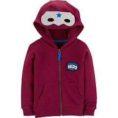 Toddler Boy Carter's Mask 'Hero' Zip Hoodie