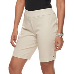 Petite Croft & Barrow® Pull-On Bermuda Shorts