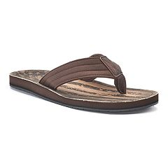 Men's Vintage Stone Stars & Stripes Thong Flip-Flop Sandals